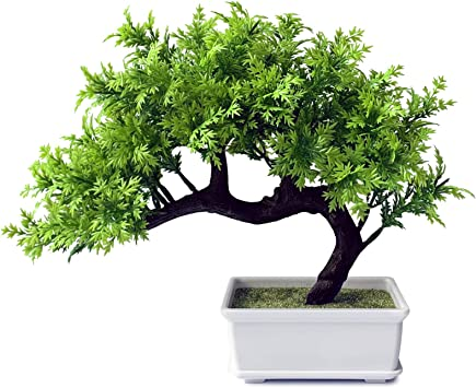 Amazon Com Living Room Decor Small Fake Plant Artificial Bonsai Tree For Home Office Hotel Home Kitchen