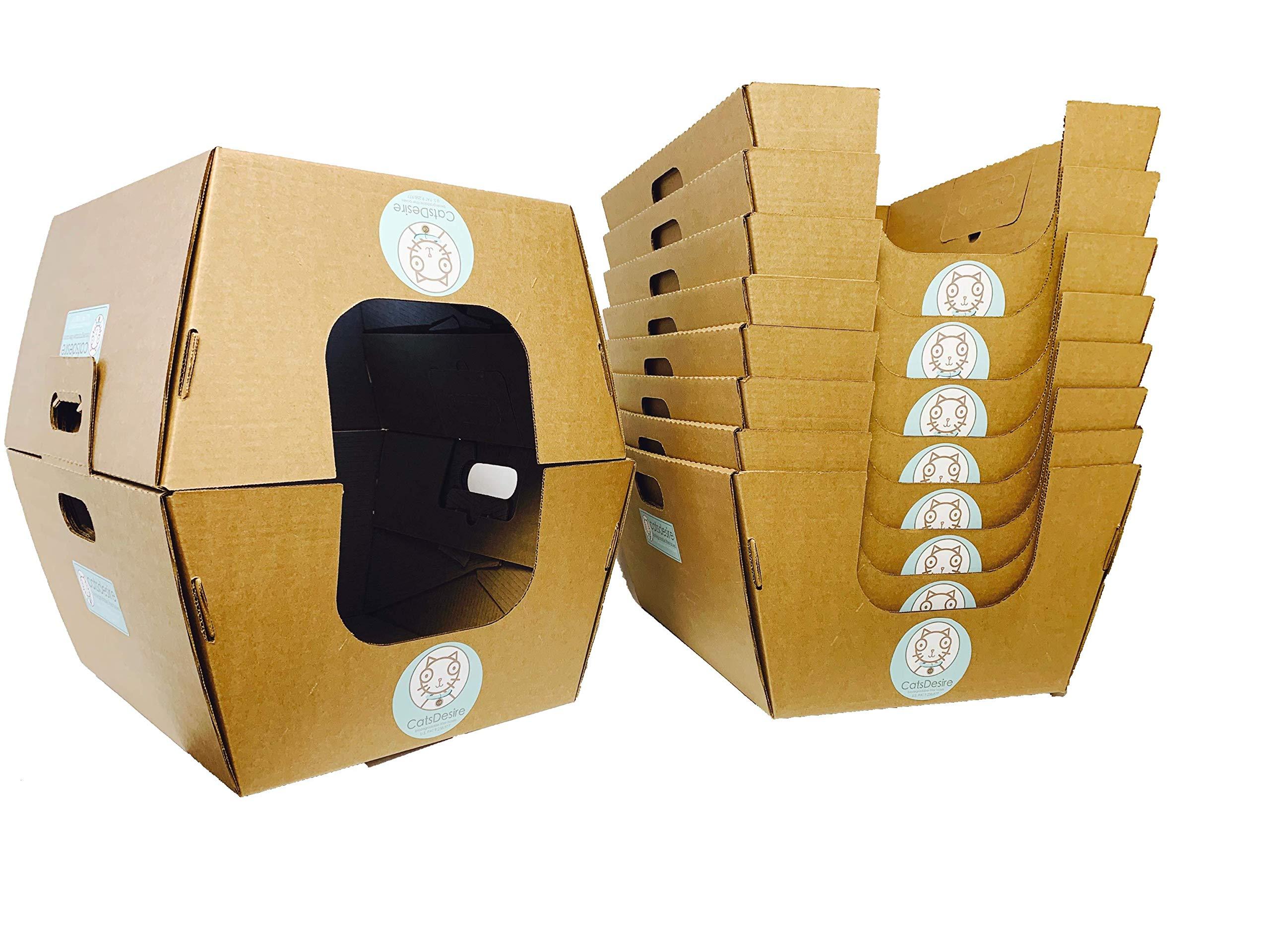 Cats Desire Disposable Litter Boxes Disposable Litter Boxes, 10 Piece 1
