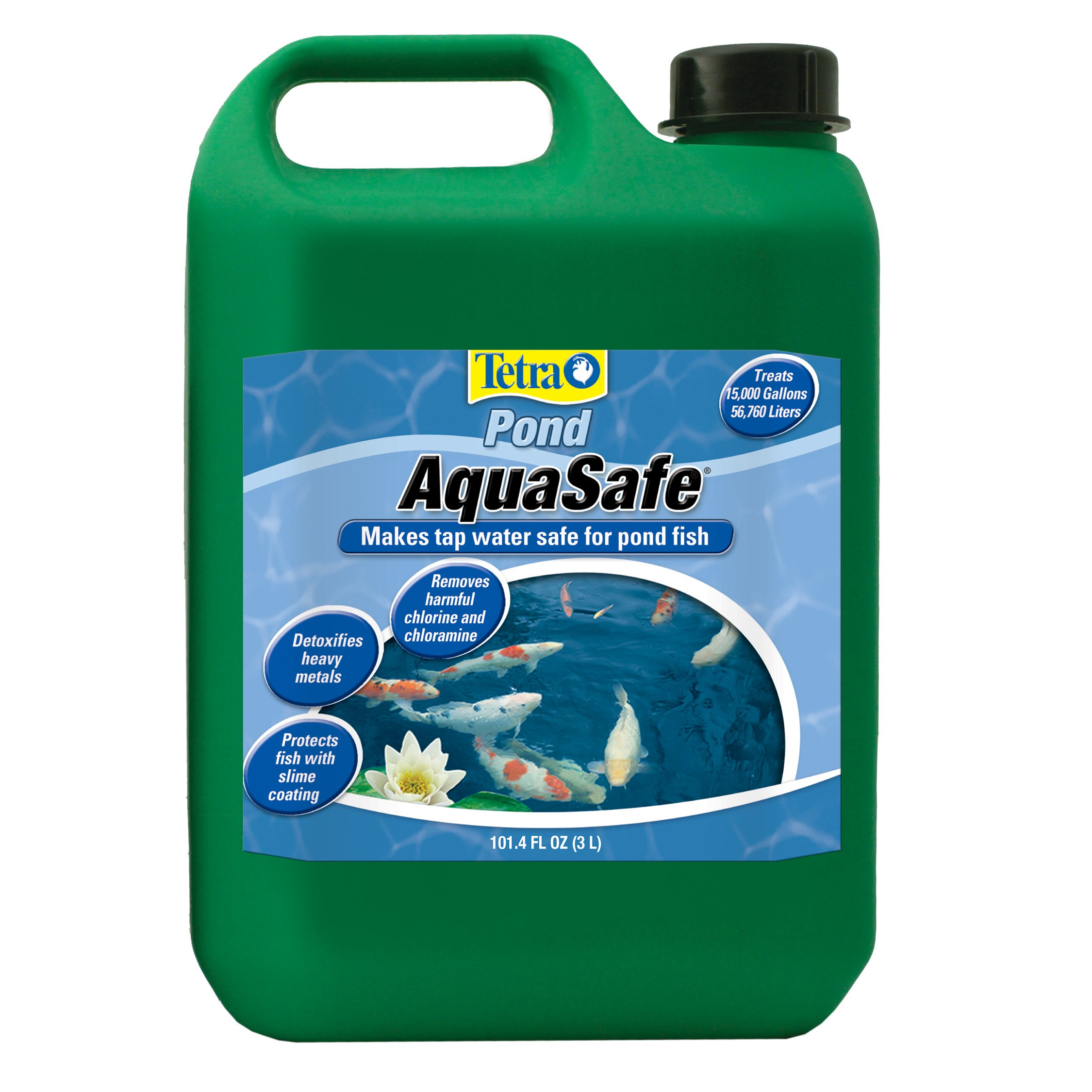 TetraPond AquaSafe Water Conditioner, Makes Tap Water Safe for Ponds by Tetra Pond