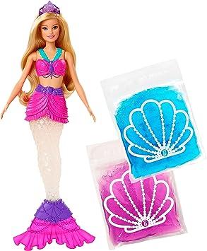 Amazon Es Barbie Muñeca Sirena Con Slime Con Cola Extraíble Y Diadema Mattel Gkt75 Juguetes Y Juegos
