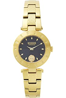 Versus by Versace Womens NEW LOGO Quartz Stainless Steel and Gold Plated Casual Watch