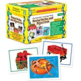 Carson-Dellosa Key Education Nouns, Verbs, and Adjectives Photographic Learning Cards—K-Grade 5 Flashcard Set for Building Vo