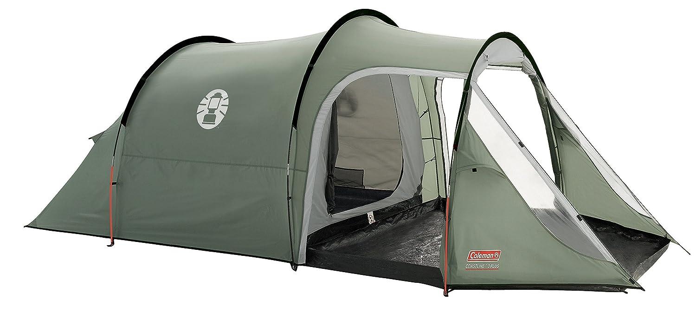 Coleman Zelt Coastline 2/3 Plus, 2/3 Mann Zelt, 2/3 Personen Tunnelzelt, Campingzelt, leichtes Trekkingzelt mit Vorzelt, wasserdicht WS 3.000mm