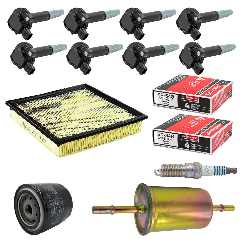 Amazon.com: Tune Up Kit 2015 Ford F-150 5L-V8 Ignition Coil DG-542 Spark Plug SP-548: Automotive