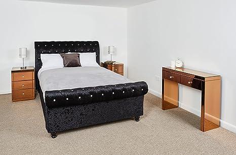 Consolle mobili per camera da letto 2 cassetti a specchio e 3 ...