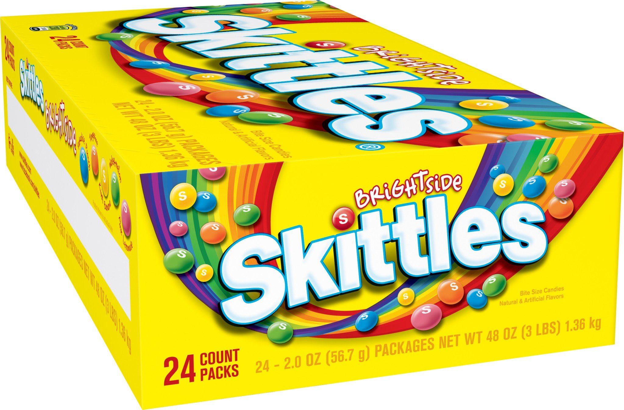 Skittles Brightside Candy, 2.0 Ounce, (Pack of 24)