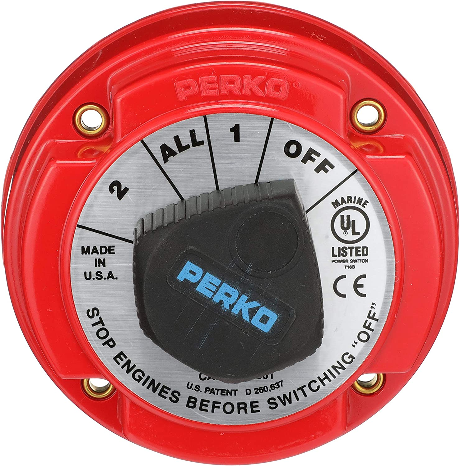 Seachoice 11501 Battery Selector Switch, Red, One size : Boating Battery Switches : Sports & Outdoors