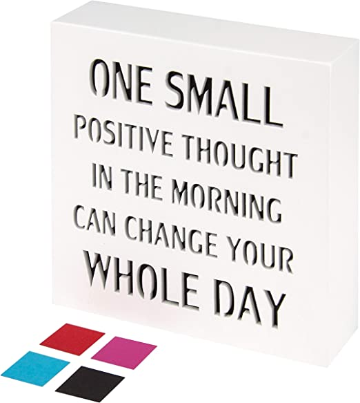POSITIVE THOUGHTS Wall//Door MDF Plaque IT/'S NOT WHO YOU ARE