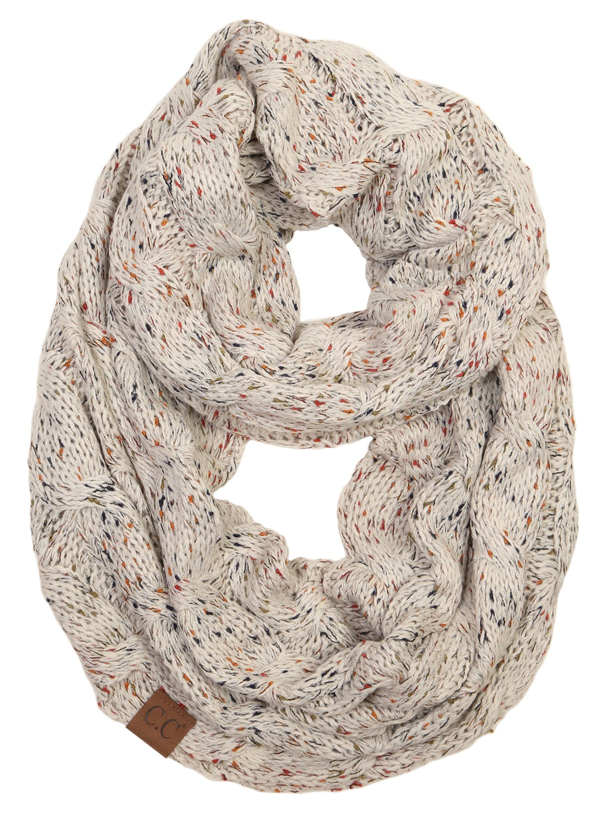 S1-6033-67 Funky Junque Infinity Scarf - Oatmeal (Confetti) by Funky Junque