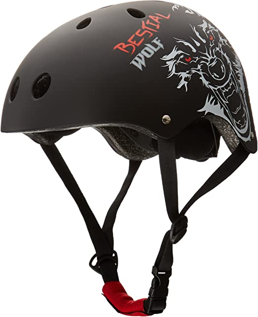 Bestial Wolf BlackSkull, Casco Negro para Scooter Freestyle y ...