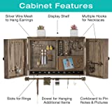 Rustic Wall Mounted Jewelry Organizer with Wooden