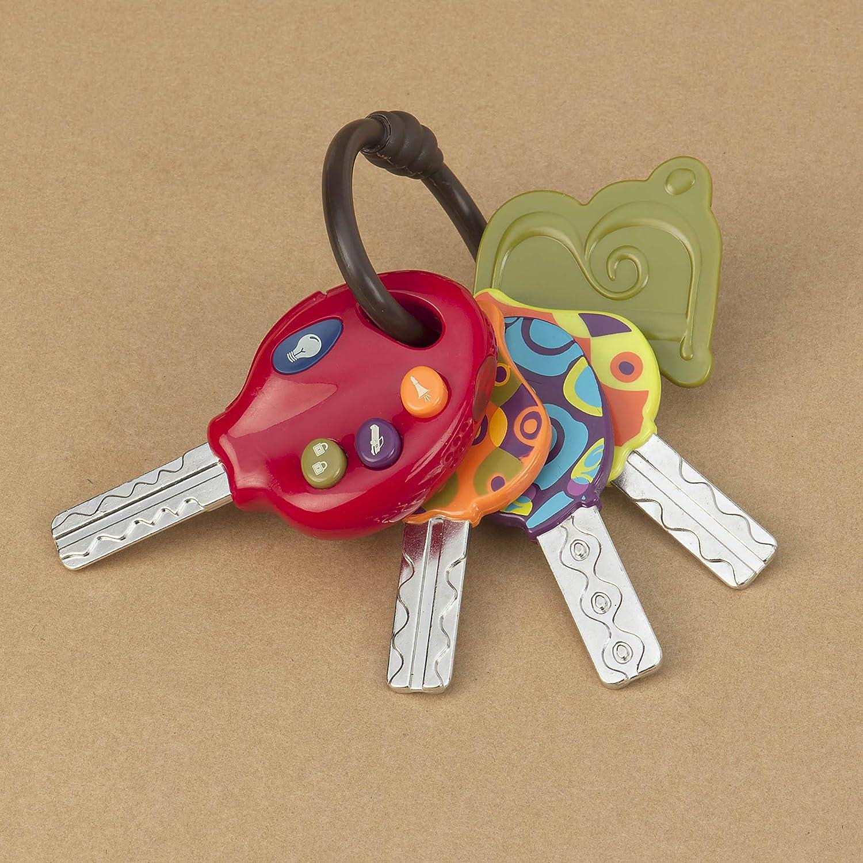 B. toys - 4 llaves de juguete texturadas para bebés y niños (importado de Inglaterra)