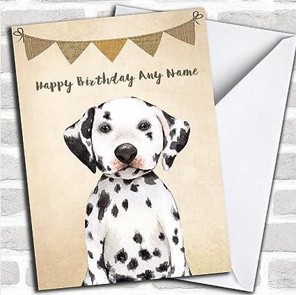 Amazon Vintage Burlap Bunting Dog Dalmatian Personalized