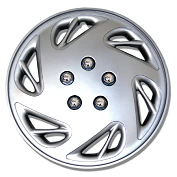 Amazon.com: TuningPros WC-17-9054-S 17-Inches-Silver Improved Hubcaps Wheel Skin Cover Set of 4: Automotive