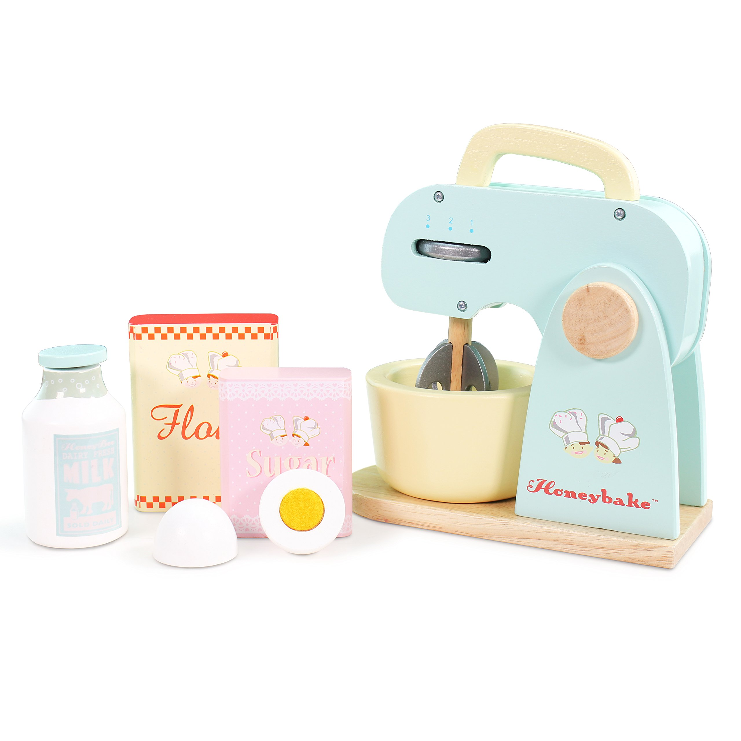 Le Toy Van Honeybake Collection Mixer Set Premium Wooden Toys for Kids Ages 3 years & Up by Le Toy Van