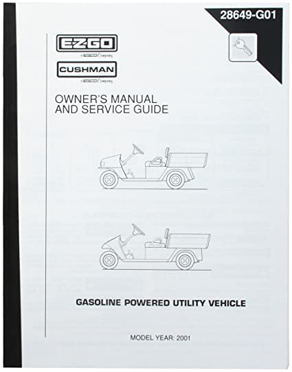 EZGO 28649G01 2001 Owner S Manual And Service