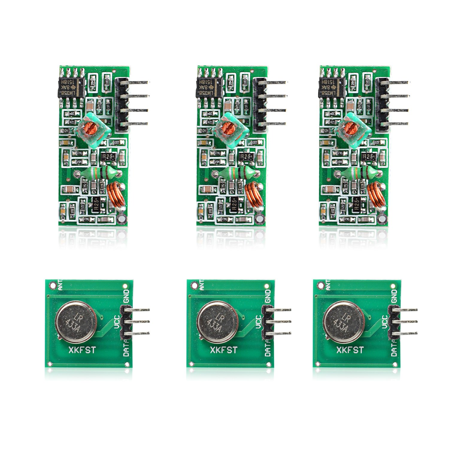 Aukru 3x 433mhz Rf Wireless Transmitter And Receiver Module Kit For Thermometer Circuit With Electronic Arduino Raspberry Pi Computers Accessories