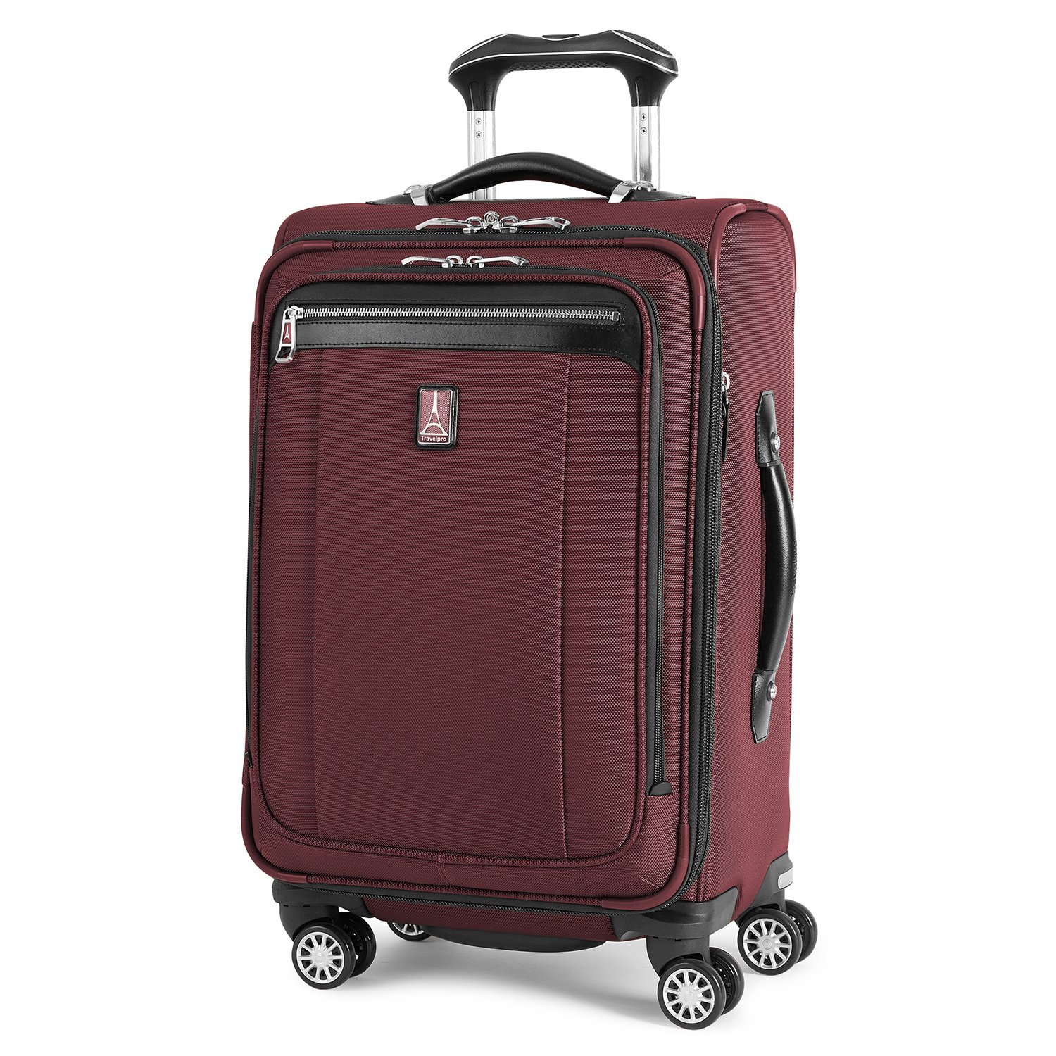 Travelpro PlatinumMagna2 Carry-On Expandable Spinner Suiter Suitcase, 21-in., Marsella Red