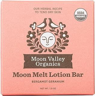 product image for Moon Valley Organics - Moon Melt Lotion Bar 1.9 oz. - Bergamot Geranium