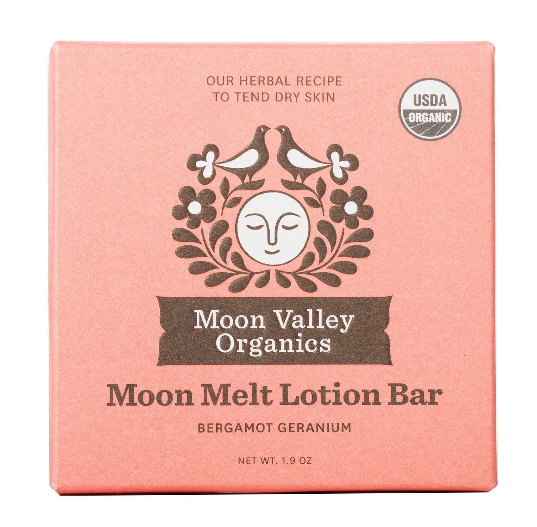 Moon Valley Organics - Moon Melt Lotion Bar 1.9 oz. - Bergamot Geranium