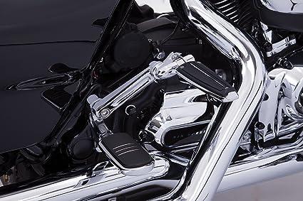 Chrome Black Foot Pegs Rest For Harley Touring FLHT FLHR FLTR Motorcycle