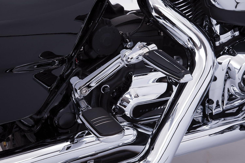 Adjustable Passenger Comfort Peg Mounts Black for Harley Davidson