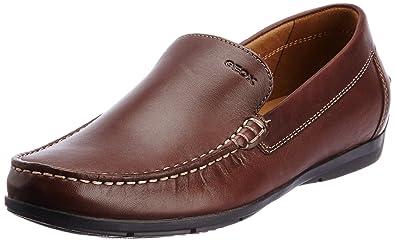 Geox U SIMON A - Mocasines de lona hombre, color marrón, talla 41: Amazon.es: Zapatos y complementos