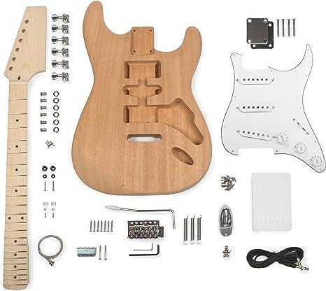 StewMac - Kit de guitarra eléctrica de estilo S: Amazon.es ...
