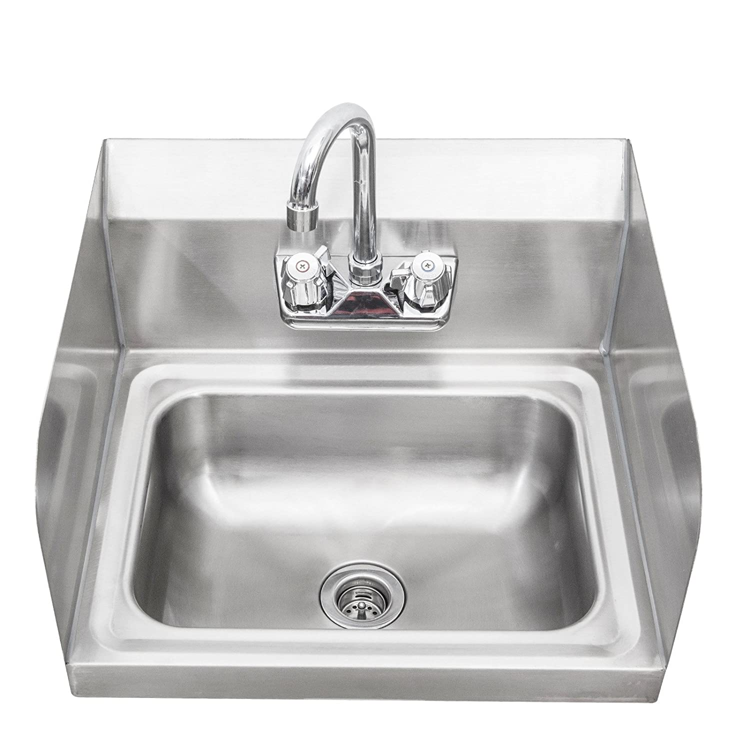 Sapphire Manufacturing NSF Wall-Mount Stainless Steel Hand Sink 17 Inch x 15 Inch x 14 Inch High SMHS-01