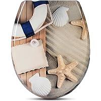 WOLTU Couvercle de WC avec SoftClose focntion,Abattant WC en Duroplaste Siège de Toilette Design Déco,#314