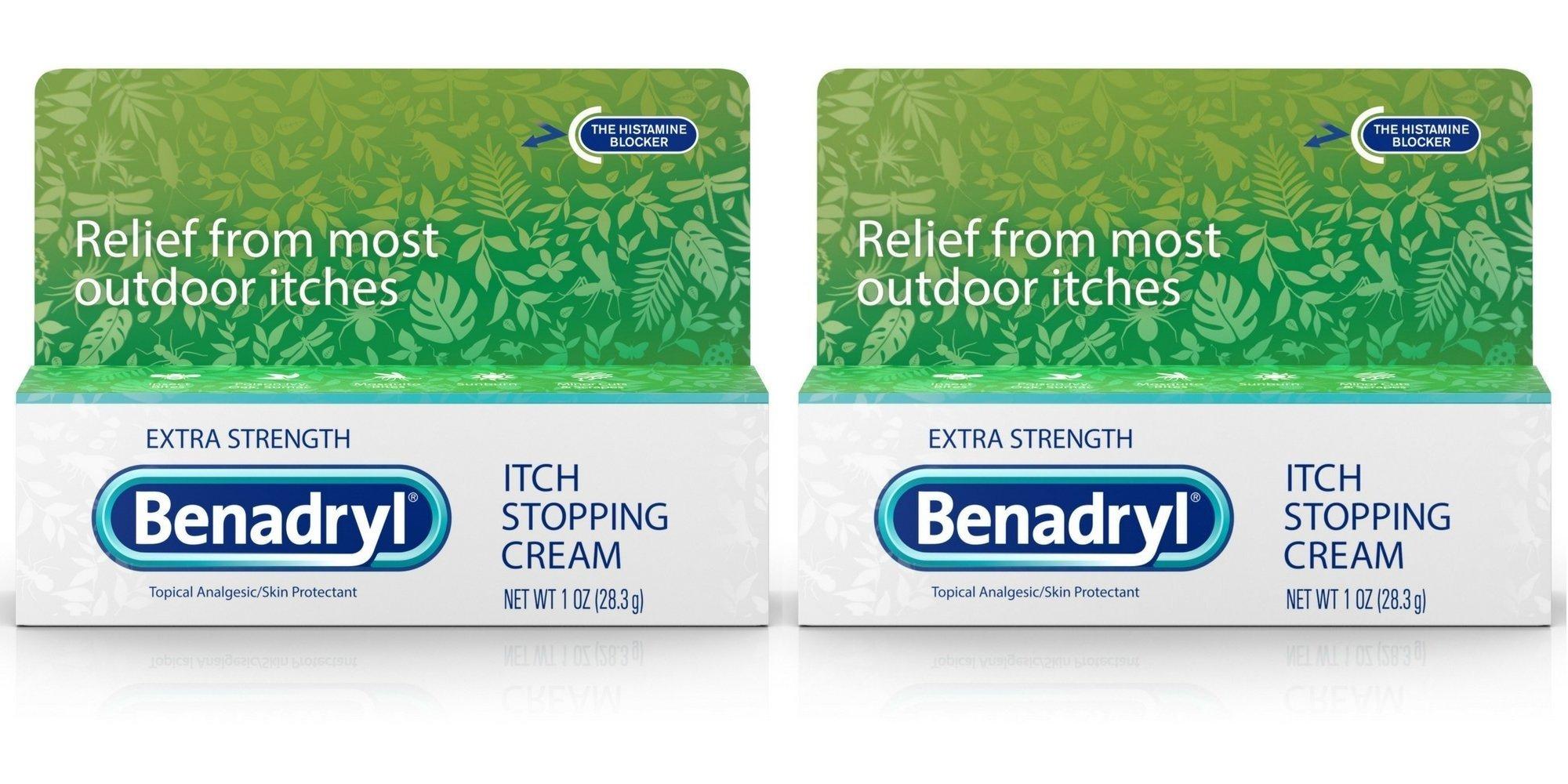 Benadryl Extra Strength Anti Itch Cream 1 Oz Tube (Pack of 2)