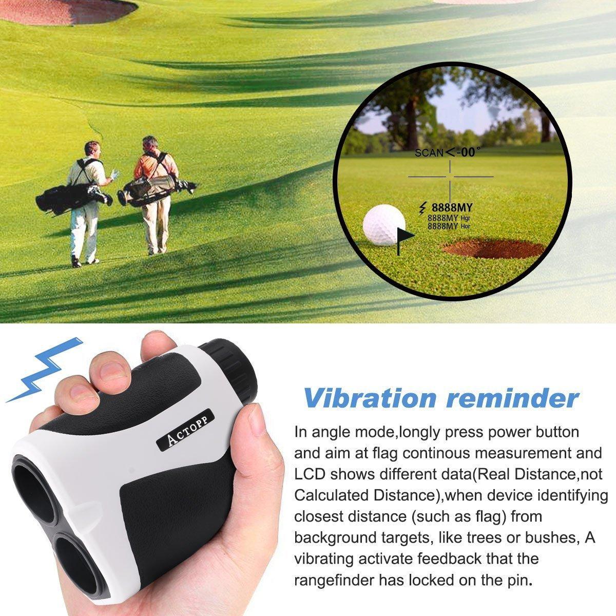 ACTOPP Golf Telémetro Láser Mide 6x21 / 600 Telémetro Láser de Golf Telémetro Laser con Ferias Horizontales Ángulo de Elevación de Pesca Caza Estudio ...
