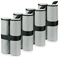 RIOGOO 4 Pack Gazebo Zand Gewichten Industriële Grade Heavy Duty Dubbelgestikte Zand Gewicht Zakken, Beengewichten voor…