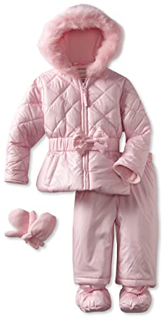 2bc76228c243 Amazon.com  Rothschild Baby Girls  Snowsuit With Bow