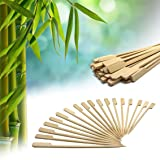 "Bamboo Picks Paddle Skewers Cotail Picks 3.5 Inch Set of 200 (3.5"") For Shish Kabobs Appetizers and Cocktails"