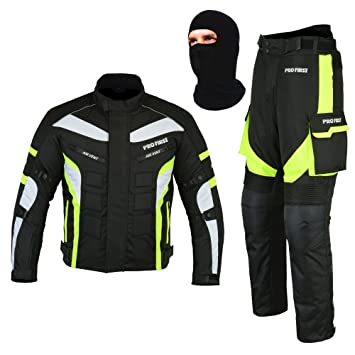 Men/'s Motorbike Cordura Trousers//Jackets Waterproof CE Armour Motorcycle top