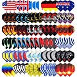 Niubixx Standard Dart Flights 30 Sets 90 Pcs Durable PET and Laser Replacement Feather Tail Wing - Perfect Accessories…