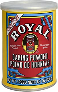 product image for Royal Baking Powder - Gluten Free, Vegan, Vegetarian, Double Acting Baking Powder in a Resealable Can with Easy Measure Lid, Kosher, Halal - 8.1 oz can (Pack of 12)