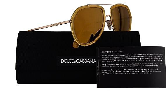 e45fcaebba11 Amazon.com  Dolce   Gabbana DG2161 Sunglasses Yellow w Brown Mirror ...