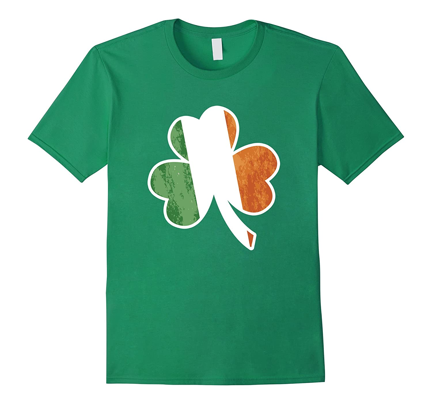 Irish St Patricks Day Flag Shamrock T-Shirt  Green Shirt