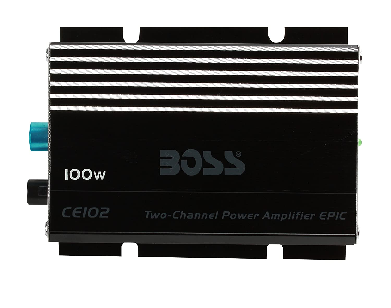 BOSS Audio CE102 100 Watt, 2 Channel, 4 Ohm Stable Class A/B, Full Range, MOSFET Car Amplifier