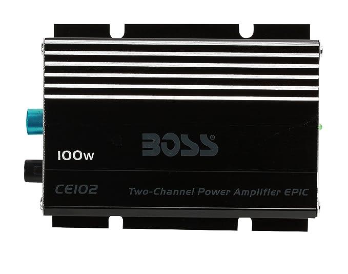amazon com boss audio ce102 100 watt 2 channel 4 ohm stable class rh amazon com