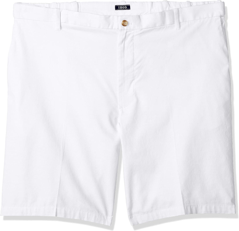 IZOD Men's Big and Tall Flat Front Solid Oxford Short
