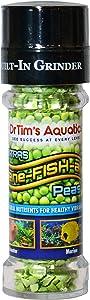 Dr. Tim's Aquatics Bene-FISH-al Peas Grinder Fish Food Enhancement – Improves Fish Function, Development – Adds Extra Flavor, All Natural – For Freshwater, Marine Fish, Coral Aquaria – 0.52 Oz.