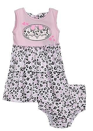 a2a186b01c44 Amazon.com  Batman (642421R2) Baby Girls Fashion Dress and Diaper ...