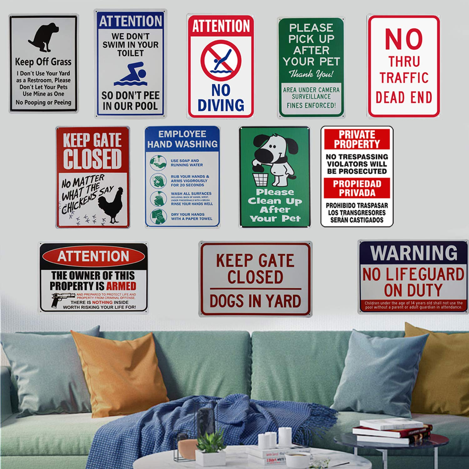No Diving Sign Pool Signs Sign No Diving Swimming Warning High Cost Free Parking Pools Mount Caution Chemical Safety Gifts 8X12Inch LASMINEAttention