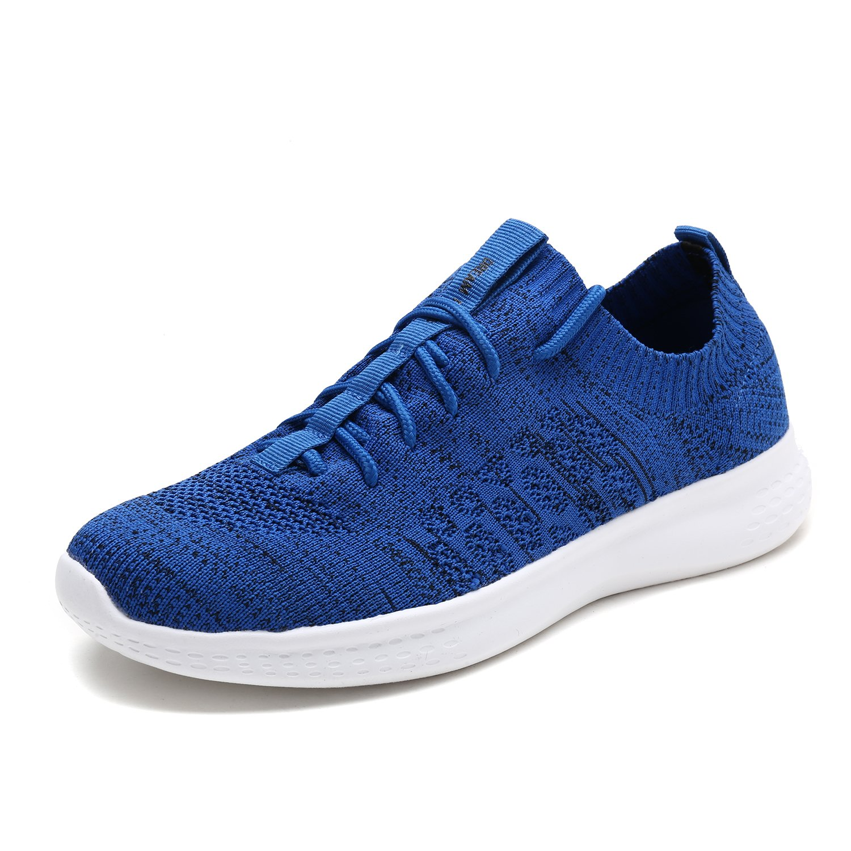 DREAM PAIRS Men's M170889 Royal Black Walking Running Shoes Fashion Sneakers Size 9.5 M US