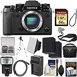 Fujifilm X-T2 4K Wi-Fi Digital Camera Body with 64GB Card + Case + Flash + Batteries & Charger + Tripod + Kit