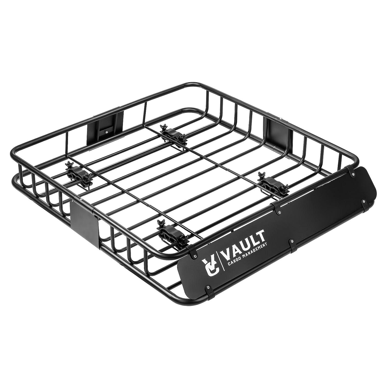 Universal Toit Panier bac en Vault Cargo Management–conçu pour fixer sur barres de toit de votre véhicule–créer une parfaite de toit pour bagages, boîtes, ou Sacs