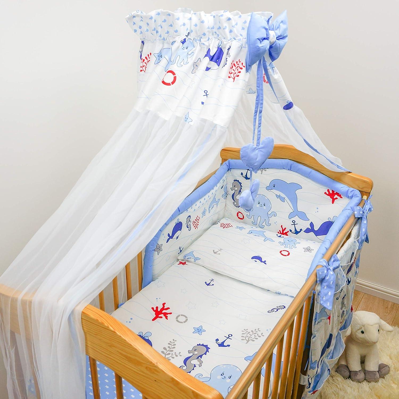 7 pcs cuna juego de cama de bebé (para cuna, 70 x 140 cm ...